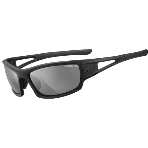 Tifosi Dolomite 2.0 Tactical Sunglasses (Matte Black Frames/Smoke, HC Red & Clear Lenses)