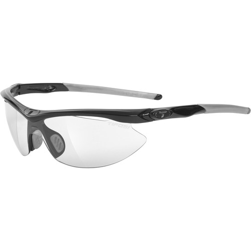 Tifosi Slip Interchangeable Sunglasses (Race Silver Frames / Light Night Fototec Lenses)