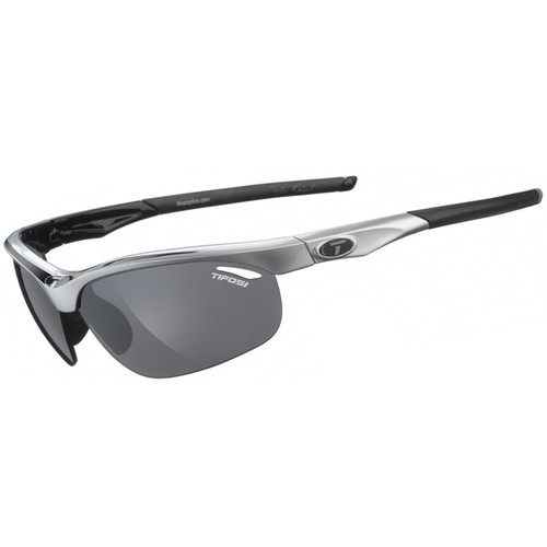 Tifosi Veloce Sunglasses (Race Black Frames - AC Red, Clear, Smoke Lenses)
