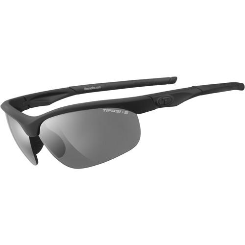 Tifosi Veloce Tactical Sunglasses (Black Matte Frames, Smoke Lenses)