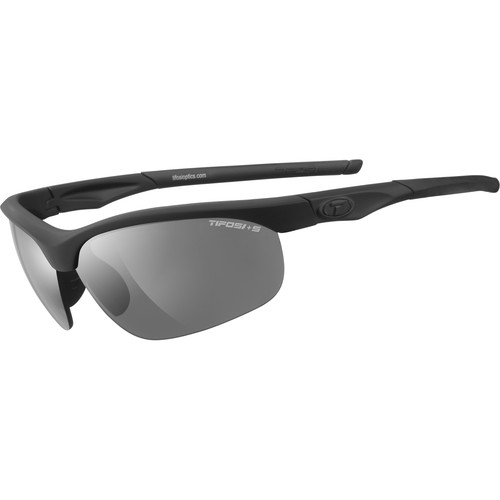 Tifosi Veloce Tactical Sunglasses (Black Matte Frames, Smoke, HC Red, & Clear Lenses)