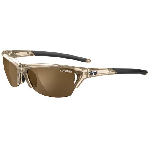 Tifosi Radius Sunglasses (Crystal Brown Frames/Brown Polarized Fototec Lenses)