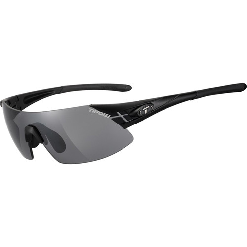 Tifosi Podium XC Sunglasses (Matte Black Frames - AC Red, Clear, Smoke Lenses)