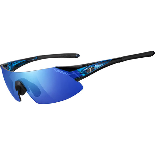 Tifosi Podium XC Sunglasses (Crystal Blue Frames - AC Red, Clarion Blue, Clear Lenses)