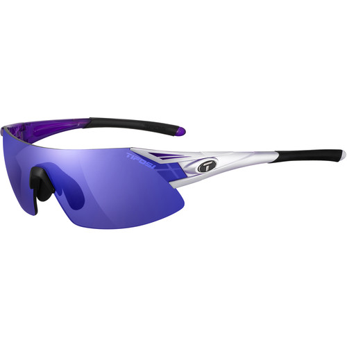 Tifosi Podium XC Sunglasses (Crystal Purple Frames - AC Red, Clarion Purple, Clear Lenses)