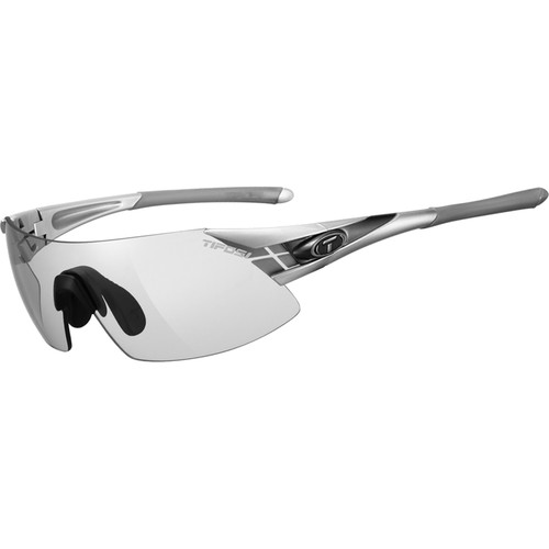 Tifosi Podium XC Sunglasses (Silver Gunmetal Frames - Light Night Fototec Lenses)