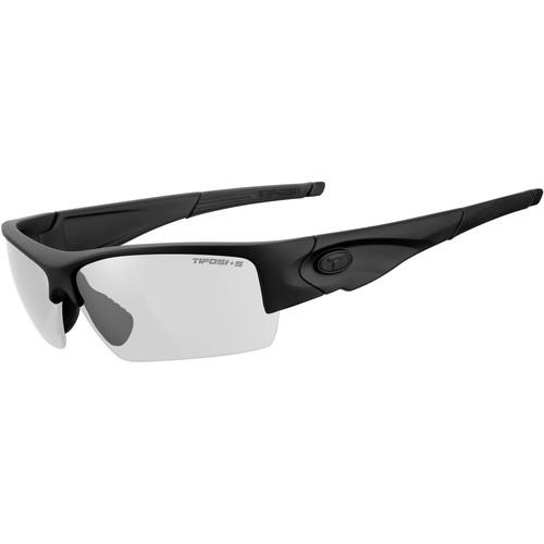 Tifosi Lore Tactical Sunglasses (Matte Black Frame - Clear Lenses)