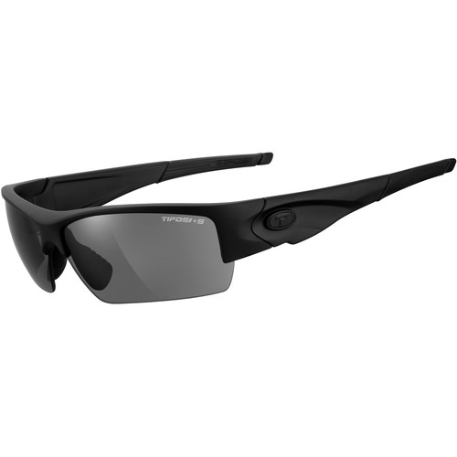 Tifosi Lore Tactical Sunglasses (Matte Black Frame - Clear, HC Red, & Smoke Lenses)