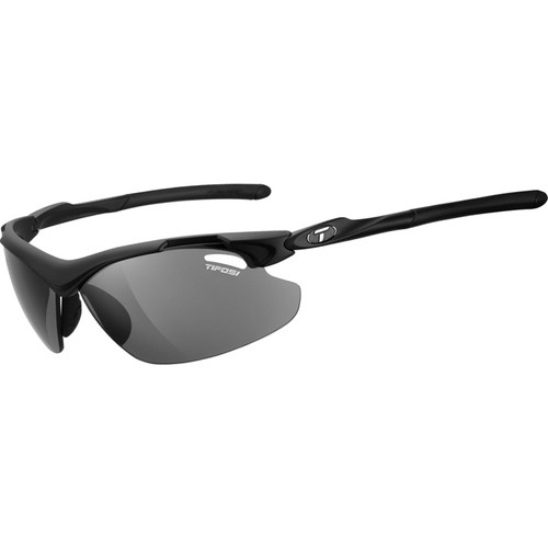 Tifosi Tyrant 2.0 Sunglasses (Matte Black Frames - AC Red, Clear, Smoke Lenses)
