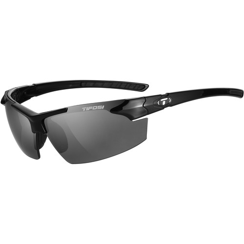 Tifosi Jet FC Sunglasses (Gloss Black Frames - Smoke Lenses)