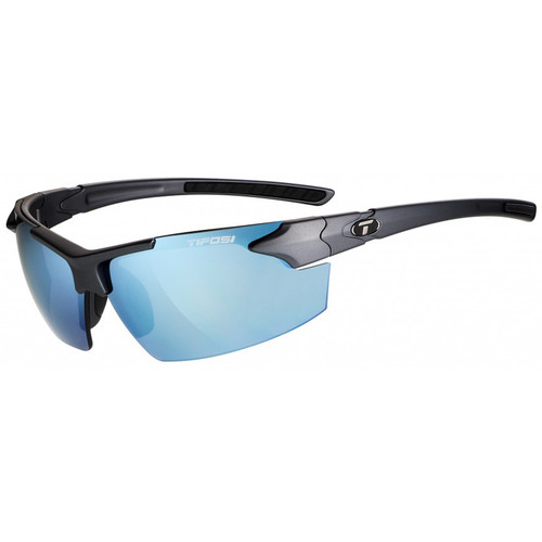 Tifosi Jet FC Sunglasses (Matte Gunmetal Frames - Smoke Bright Blue Lenses)