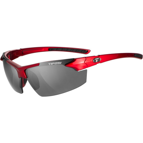 Tifosi Jet FC Sunglasses (Metallic Red Frames - Smoke Lenses)