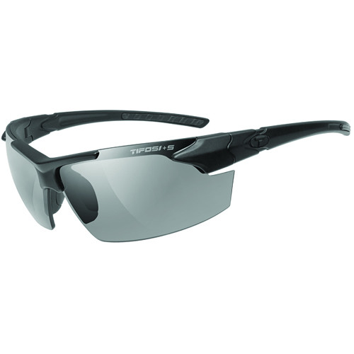 Tifosi Jet FC Tactical Sunglasses (Matte Black ANSI Z87.1 Frame - Smoke Lenses)