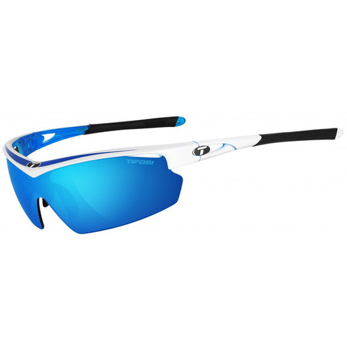 Tifosi Talos Sunglasses (Race Blue Frame - Clarion Blue, AC Red, Clear)