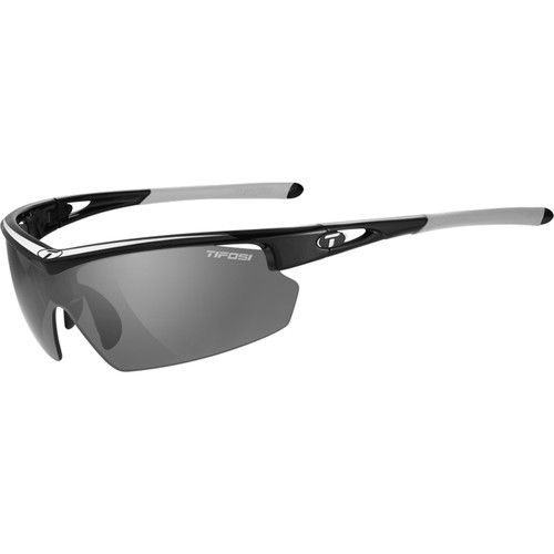 Tifosi Talos Sunglasses (Race Silver Frame - Smoke Gray, AC Red, Clear)