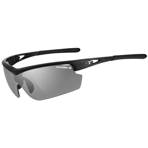Tifosi Talos Tactical Sunglasses (Matte Black Frames - Smoke, Clear, High Contrast Red Lenses)