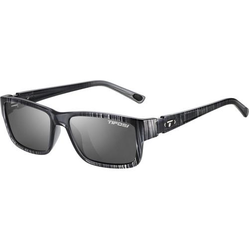 Tifosi Hagen Sunglasses (Silver Streak Frames, Smoke Lenses)