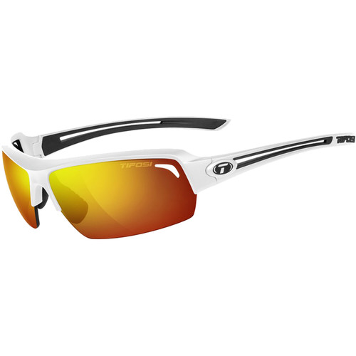 Tifosi Just Sunglasses (Matte White Frame - Smoke Red)