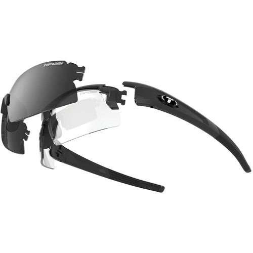 Tifosi Escalate H.S. Interchangeable Sunglasses Kit (Matte Black - AC Red, Clear, Smoke)