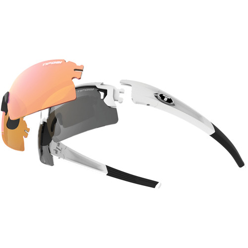Tifosi Escalate H.S. Interchangeable Sunglasses Kit (Perl White - AC Red, Clear, Smoke)