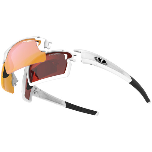 Tifosi Escalate F.H. Interchangeable Sunglasses Kit (Gloss Black - AC Red, Clarion Red, and Clear)