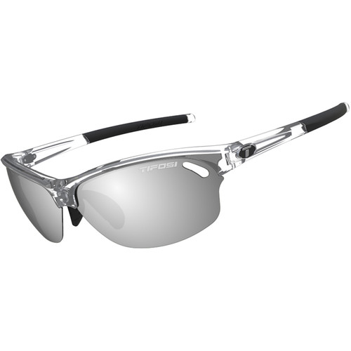 Tifosi Wasp Sunglasses (Crystal Clear Frames - Smoke, AC Red, Clear Lenses)