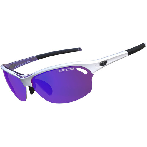 Tifosi Wasp Sunglasses (Race Purple Frames - Clarion Purple, AC Red, Clear Lenses)