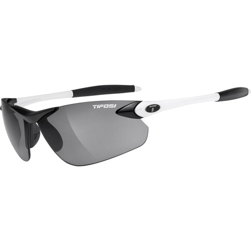 Tifosi Seek FC Sunglasses (Black & White Frames/Fototec Smoke Gray Lenses)