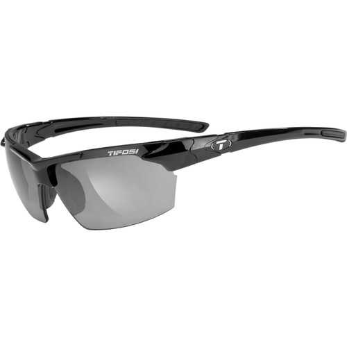 Tifosi Jet Sunglasses (Gloss Black Frames, Smoke Lenses)