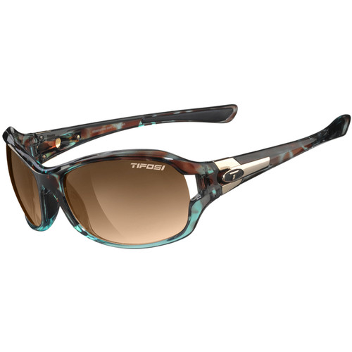 Tifosi Dea SL Sunglasses (Blue Tortoise Frames, Brown Gradient Lenses)
