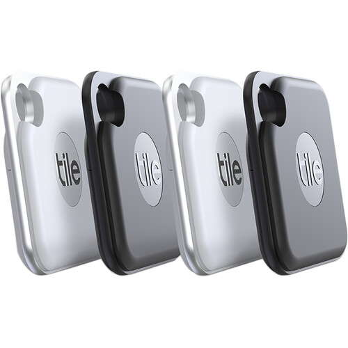 Tile Pro Bluetooth Tracker (4-Pack, Black)