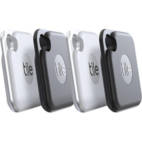 Tile Pro Bluetooth Tracker (4-Pack, Black & White)