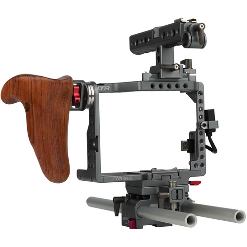 Tilta ES-T37A GH5 Handheld Camera Cage Rig with Wooden Handgrip