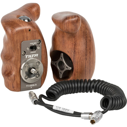 Tilta Wooden Handle Grip Set with Record Start/Stop Remote Trigger for ESR-T06 ARRI ALEXA Mini Rig