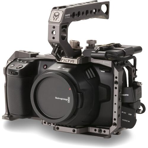 Tilta Camera Cage for Blackmagic Design Pocket Cinema Camera 4K/6K (Basic Kit, Tilta Gray)