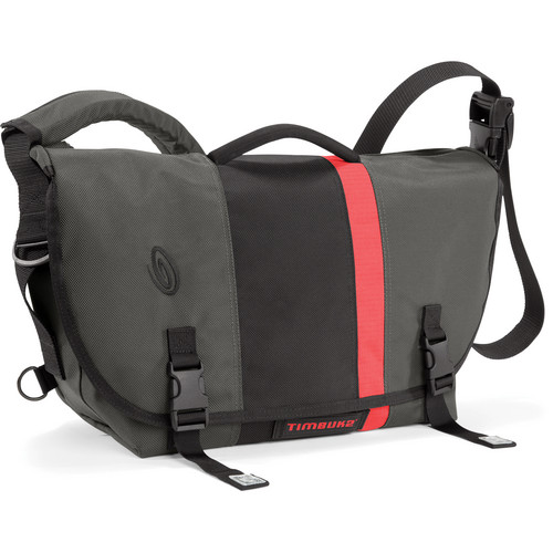 Timbuk2 D-Lux Laptop Orange Racing Stripe Messenger Bag (Small, Carbon Gray/Black)