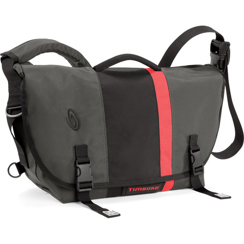 Timbuk2 D-Lux Laptop Orange Racing Stripe Messenger Bag (Medium, Carbon Gray/Black)