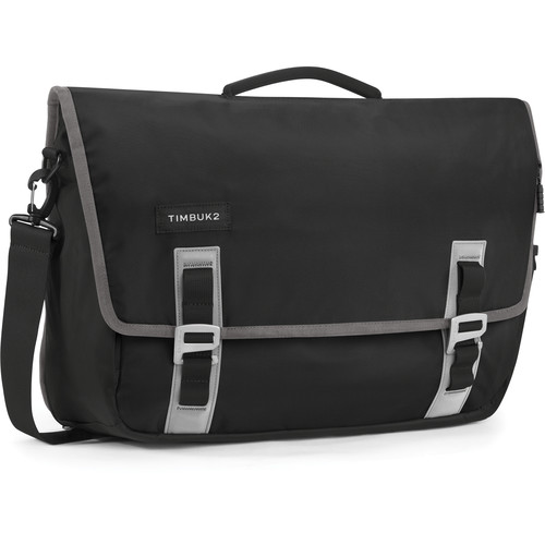 Timbuk2 Command Messenger Bag (Large, Black/Gunmetal)
