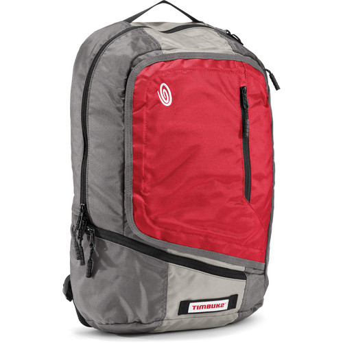 Timbuk2 Q Laptop Backpack (Revlon Red, Cement, and Gunmetal, Medium)