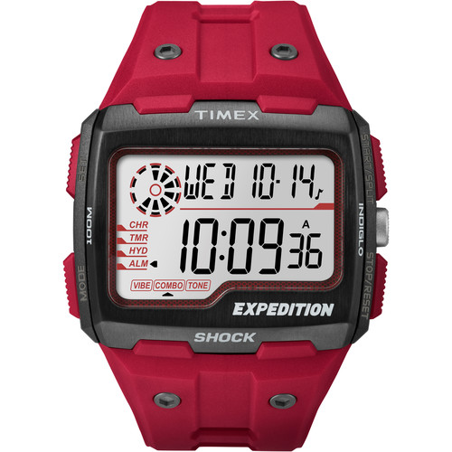 Timex Expedition Grid Shock Watch (Red)