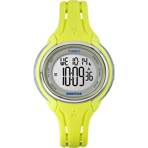 Timex IRONMAN Sleek 50 Mid-Size Sport Watch (Lime/Yellow)