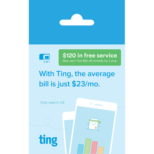 ting GSM Mobile Starter Kit with $120 Total Credit