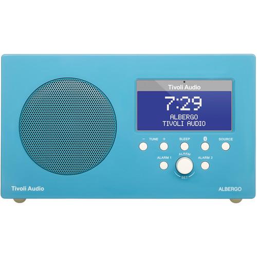 Tivoli Albergo Clock Radio (Gloss Blue/White)