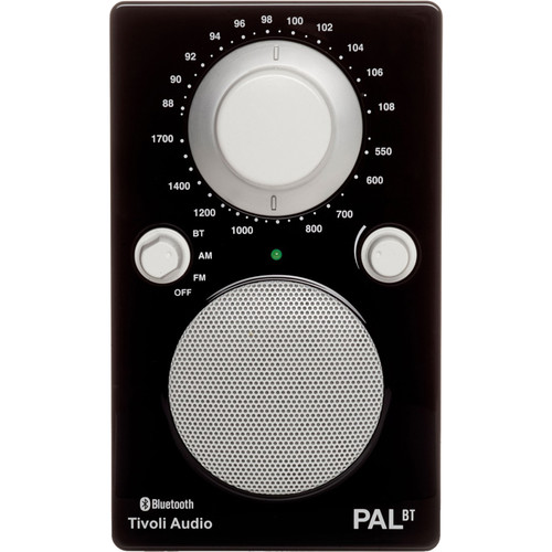 Tivoli PAL BT Bluetooth Portable Radio (Glossy Black / White)