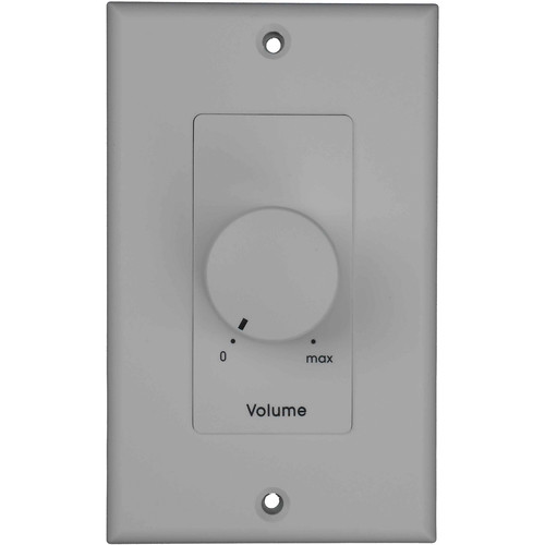 Toa Electronics Volume Control Attenuator Wall Plate Unit with Priority Relay (100 W, White)