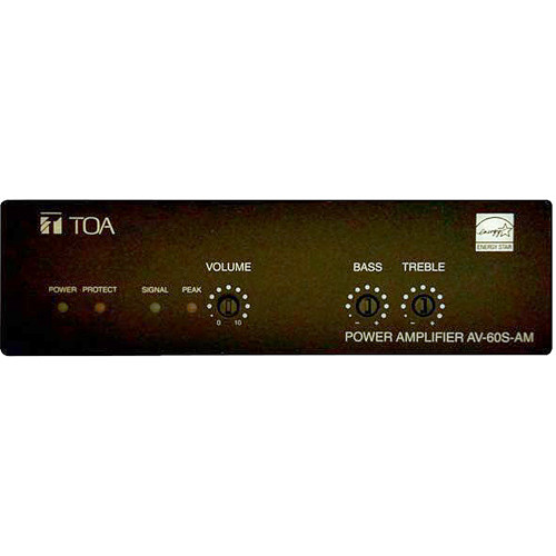 Toa Electronics AV-60S-AM Single-Channel Micro Install Amplifier
