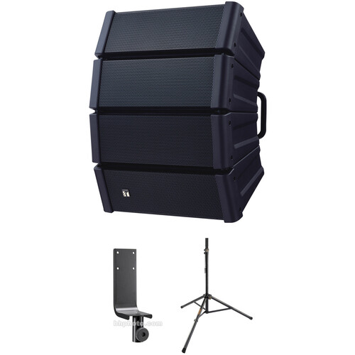 Toa Electronics HX-5B Variable Dispersion Array Speaker with Stand Kit (Black)