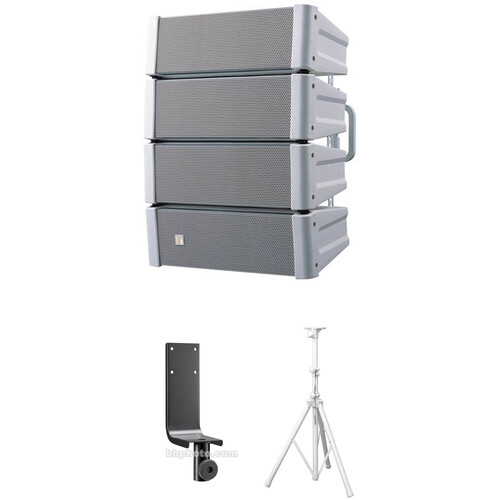 Toa Electronics HX-5W Variable Dispersion Array Speaker with Stand Kit (White)