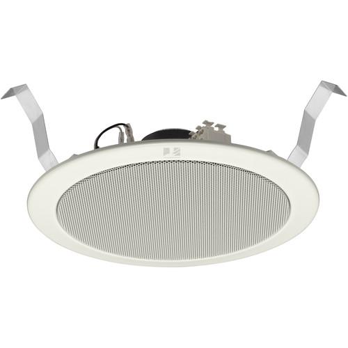 """Toa Electronics 6"""" Full-Range Ceiling Speaker. Spring-ClIP Mount-  6W-  70/100V"""