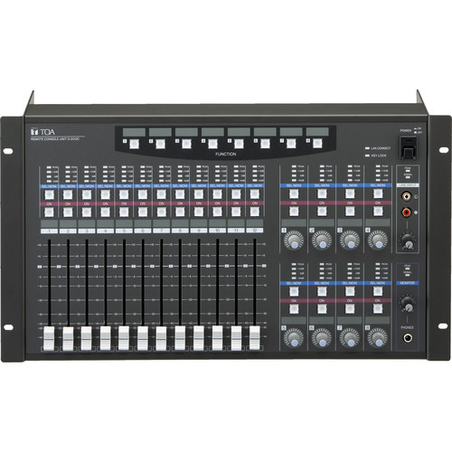 Toa Electronics Stereo Remote Console Unit with 100Base-TX
